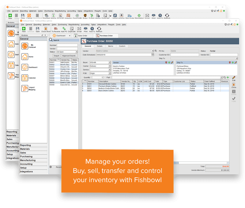 Fishbowl Inventory Order Management, WMS, Productivity Wins